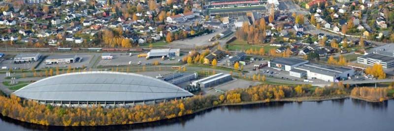 Innlandet BOBY - Flyfoto av Hamar