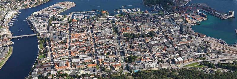 Agder BOBY - Flyfoto av Kristiansand