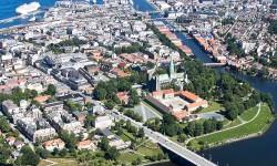 Trondheim BOBY - flyfoto Midtbyen