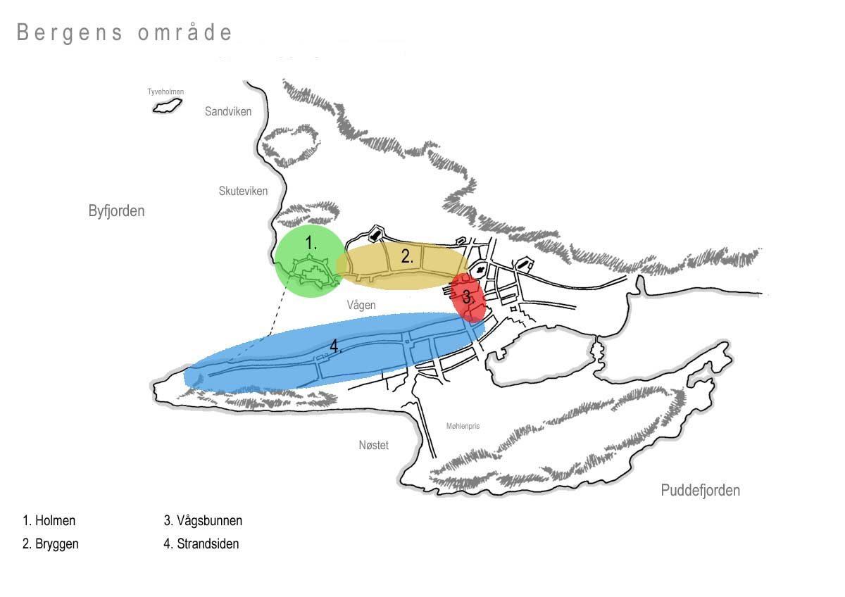 Kart av Bergens område